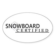 Snowboard Certified Decal