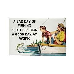 Fishing Fridge Rectangle Magnet