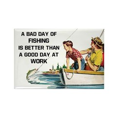 Fishing Fridge Rectangle Magnet