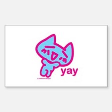 Kitty's Afternoon Delight Rectangle Decal