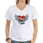 Tattoo Twilight Forever Women's V-Neck T-Shirt