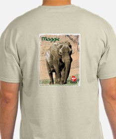 PAWS Logo on front and Maggie on back T-Shirt