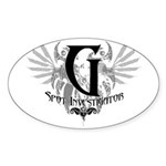 G Spot Investigator Oval Sticker