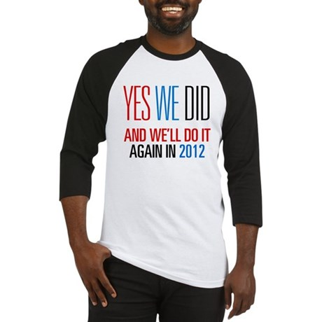 Obama Yes We Did 2012 Baseball Jersey