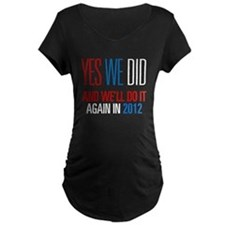 Obama Yes We Did 2012 T-Shirt