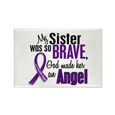 Angel 1 Sister Pancreatic Cancer Rectangle Magnet