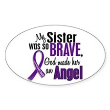 Angel 1 Sister Pancreatic Cancer Oval Decal