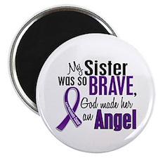"Angel 1 Sister Pancreatic Cancer 2.25"" Magnet (10"