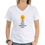 Nurse Practitioner Chick Women's V-Neck T-Shirt