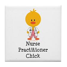 Nurse Practitioner Chick Tile Coaster