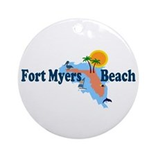 Fort Myers Beach FL Ornament (Round)