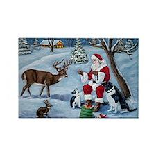 Santa's Christmas Treats Rectangle Magnet