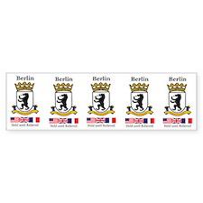 Strip of 5 Berlin Brigade Stickers