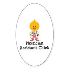 Physician Assistant Chick Oval Sticker (10 pk)