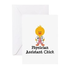 Physician Assistant Chick Greeting Cards (Pk of 10