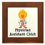 Physician Assistant Chick Framed Tile