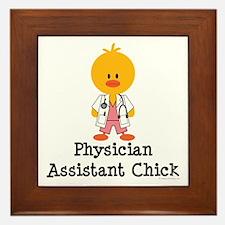 Physician Assistant Chick Framed Tile