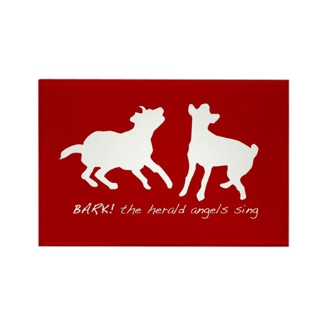 Bark! The herald angels sing Rectangle Magnet (10
