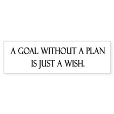 Goals Bumper Bumper Sticker