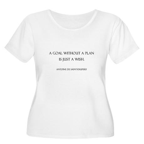 Goals Women's Plus Size Scoop Neck T-Shirt