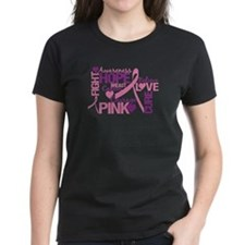 Breast Cancer Words Tee