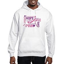 Breast Cancer Words Hoodie