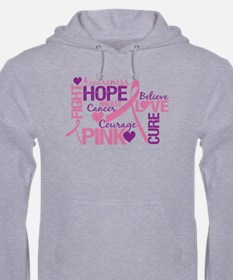 Breast Cancer Words Hoodie