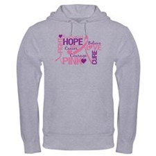 Breast Cancer Words Jumper Hoody