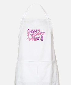 Breast Cancer Words BBQ Apron