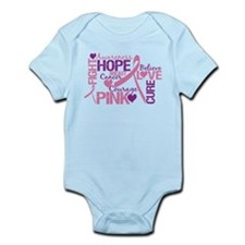 Breast Cancer Words Infant Bodysuit