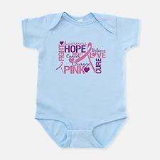 Breast Cancer Words Infant Bodysuit