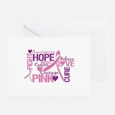Breast Cancer Words Greeting Card