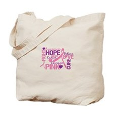 Breast Cancer Words Tote Bag