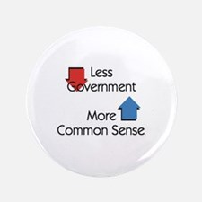 "Less Government 3.5"" Button (100 pack)"