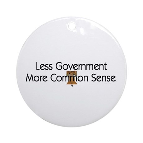 Less Government Ornament (Round)