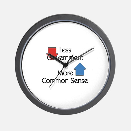 Less Government Wall Clock