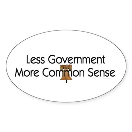 Less Government Sticker (Oval)