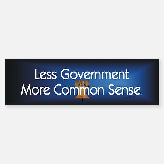 Less Government Sticker (Bumper)