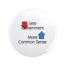 """Less Government 3.5"""" Button"""