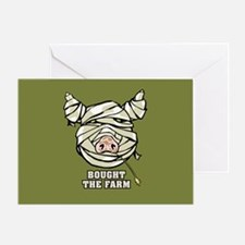 Pig Mummy Greeting Card