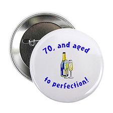 """Vintage 70th Birthday 2.25"""" Button"""