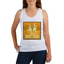 Greetings, Retro Robot Women's Tank Top