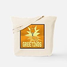 Greetings, Retro Robot Tote Bag