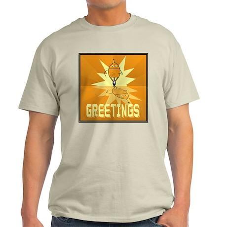 Greetings, Retro Robot Light T-Shirt