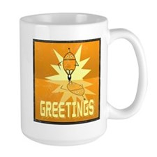 Greetings, Retro Robot Mug