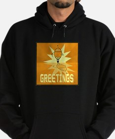 Greetings, Retro Robot Hoodie (dark)