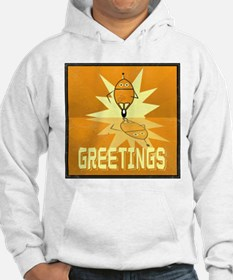 Greetings, Retro Robot Jumper Hoody