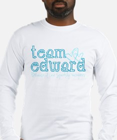 Team Edward-Because I love sp Long Sleeve T-Shirt