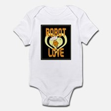 Retro Robot Love Infant Bodysuit