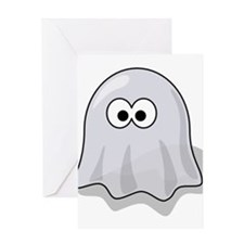 Cute Cartoon ghost Greeting Card